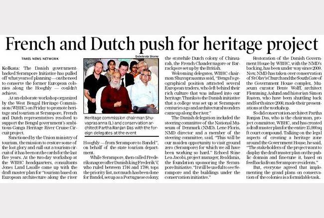 French and Dutch push for heritage project