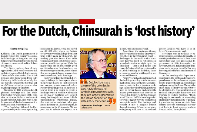 For the Dutch, Chinsurah is lost history