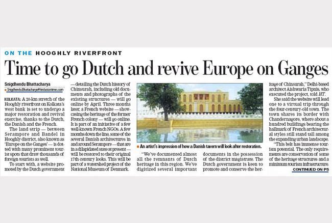 Going Dutch to revive Chinsurah, India's Europe on Ganges